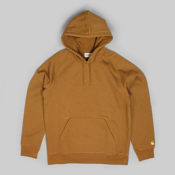 CARHARTT CHASE HOODED  SWEAT HAMILTON BROWN GOLD
