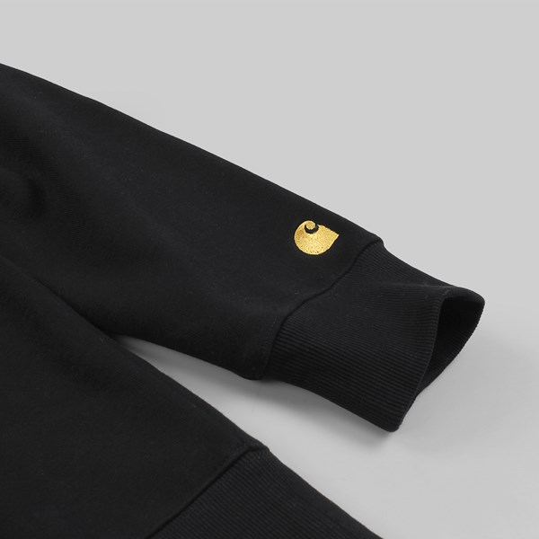 CARHARTT CHASE NECK JACKET BLACK GOLD