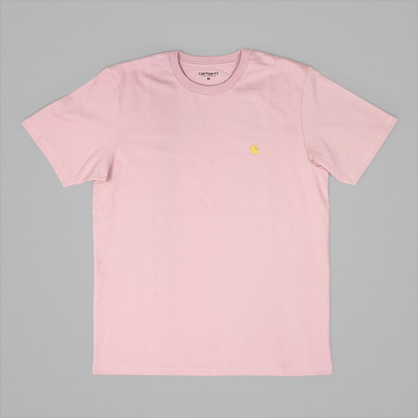 CARHARTT CHASE SS T-SHIRT SOFT ROSE GOLD