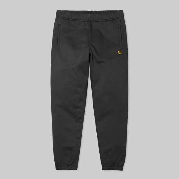 CARHARTT CHASE SWEAT PANT BLACK GOLD