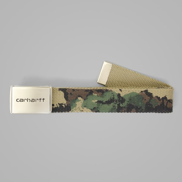 CARHARTT CLIP BELT CHROME CANVAS PAINTED GREEN