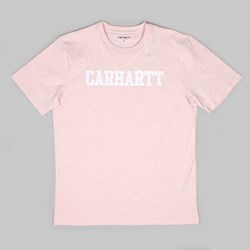 CARHARTT COLLEGE SS T-SHIRT SANDY ROSE HEATHER