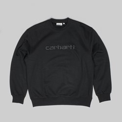 CARHARTT CREW SWEAT BLACK BLACK