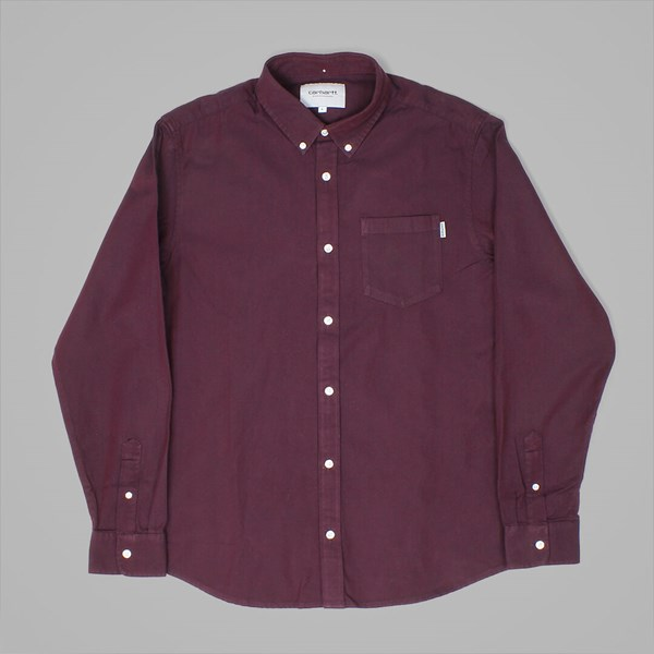 CARHARTT DALTON L-S BUTTON DOWN SHIRT VARNISH