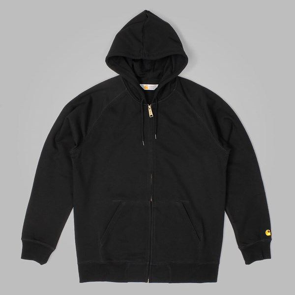 CARHARTT HOODED CHASE JACKET BLACK-GOLD