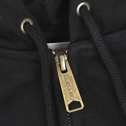 CARHARTT CHASE HOODED JACKET BLACK-GOLD