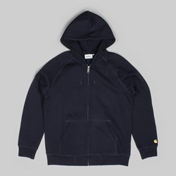 CARHARTT HOODED CHASE JACKET DARK NAVY GOLD