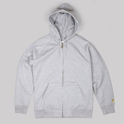 CARHARTT HOODED CHASE JACKET GREY HEATHER