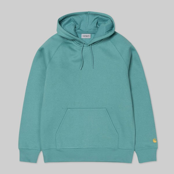 CARHARTT HOODED CHASE SWEAT  SOFT TEAL GOLD