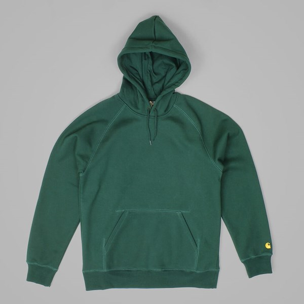 CARHARTT CHASE HOODED SWEATSHIRT FIR-GOLD