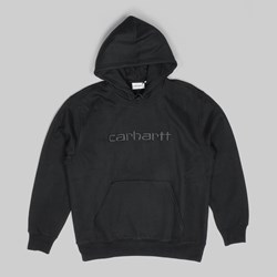 CARHARTT HOODED SWEAT BLACK BLACK