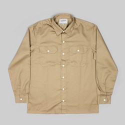 CARHARTT LS MASTER SHIRT LEATHER RINSED