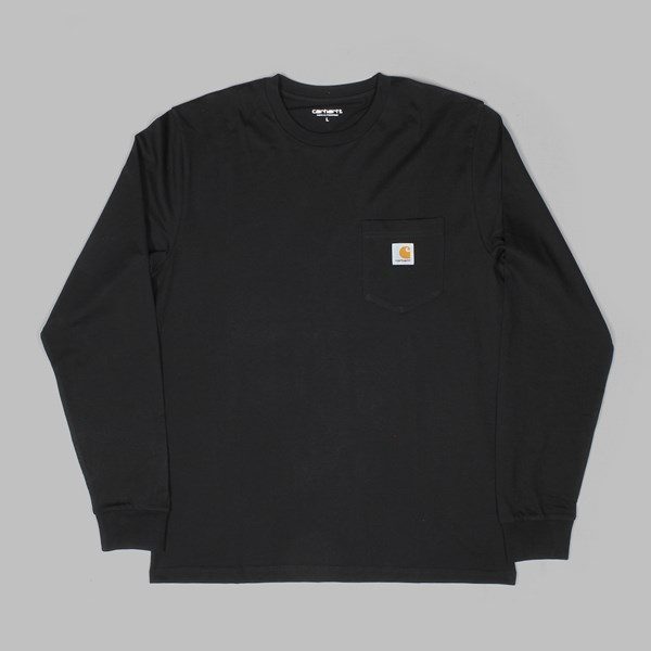 CARHARTT LS POCKET T-SHIRT BLACK