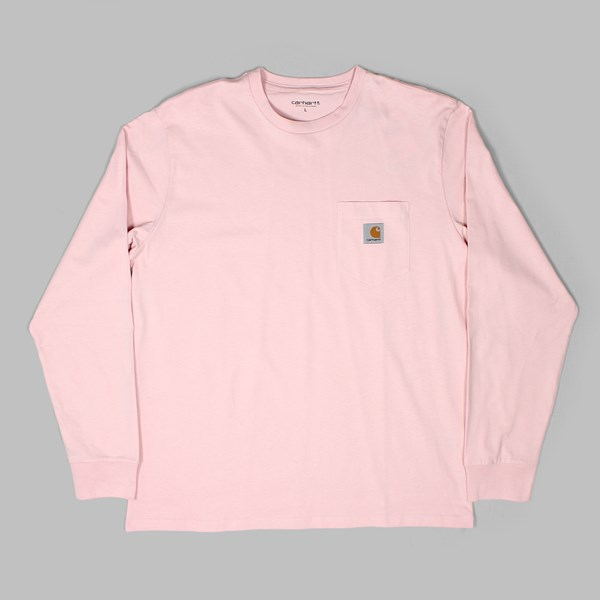 CARHARTT LS POCKET T-SHIRT SANDY ROSE