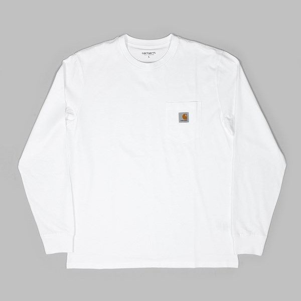 CARHARTT LS POCKET T-SHIRT WHITE