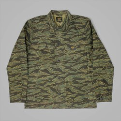 CARHARTT MICHIGAN CHORE COAT CAMO TIGER-LAUREL RINSED