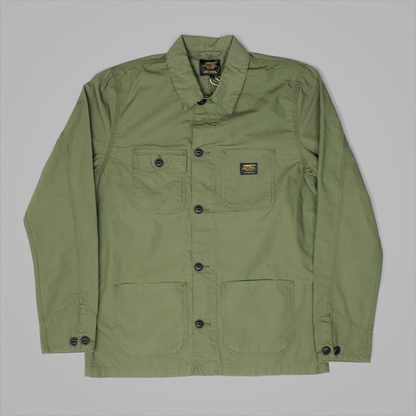 CARHARTT MICHIGAN CHORE COAT ROVER GREEN RINSED