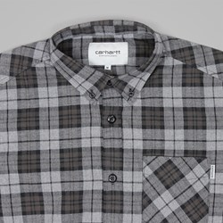 CARHARTT NORTON CHECK LS SHIRT DARK GREY