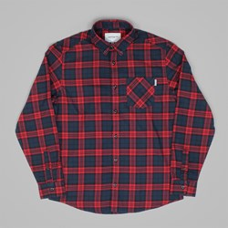 CARHARTT NORTON LS SHIRT NAVY CHECK