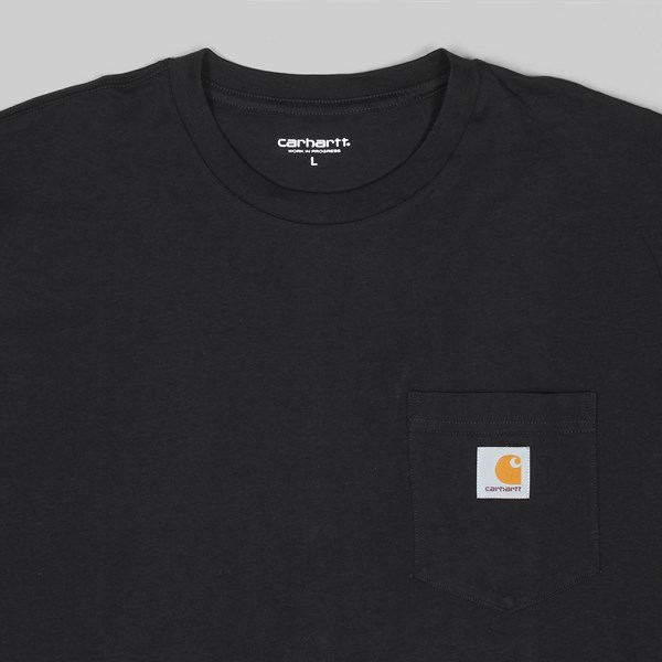 CARHARTT POCKET LONG SLEEVE T-SHIRT BLACK