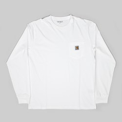 CARHARTT POCKET LONG SLEEVE T-SHIRT WHITE