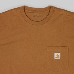 CARHARTT POCKET LONG SLEEVE TEE HAMILTON BROWN