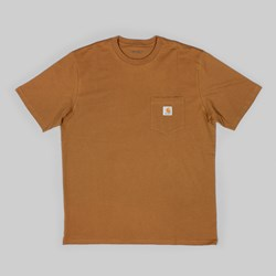 CARHARTT POCKET SS T-SHIRT HAMILTON BROWN