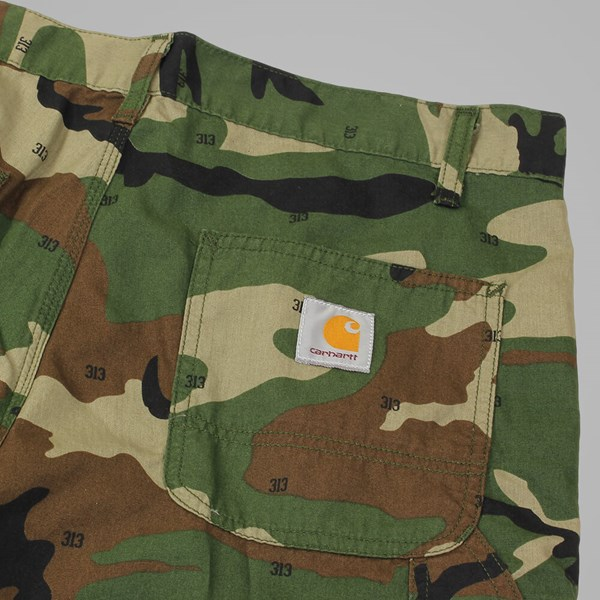 CARHARTT RUCK SINGLE KNEE SHORT GREEN RINSED
