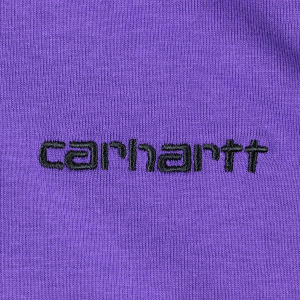 CARHARTT SCRIPT EMBROIDERY SS T-SHIRT FROSTED VIOLET