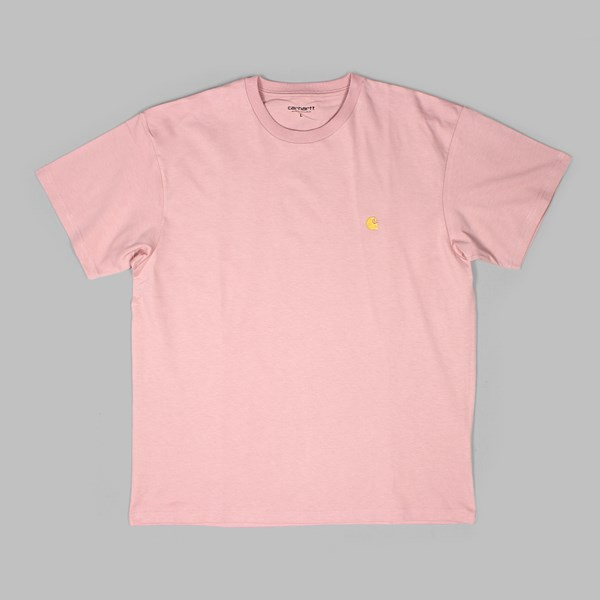 CARHARTT SS CHASE T-SHIRT SOFT ROSE GOLD