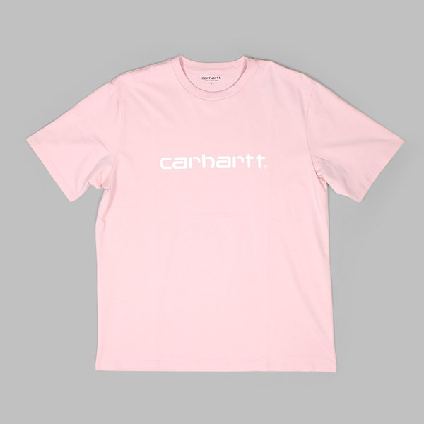 CARHARTT SS SCRIPT T-SHIRT SANDY ROSE WHITE