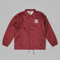 CARHARTT STATE COACH JACKET CORDOVAN-WHITE