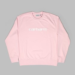 CARHARTT SWEAT CREW SANDY ROSE WAX