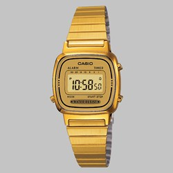 CASIO WATCH LA670WEGA-9EF GOLD GOLD