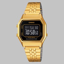 CASIO WATCH LA680WEGA-1BER GOLD BLACK