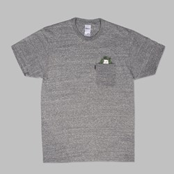 RIP N DIP CAT NIP TEE HEATHER GREY