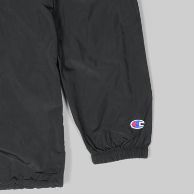 CHAMPION HALF ZIP HOODED JACKET BLACK
