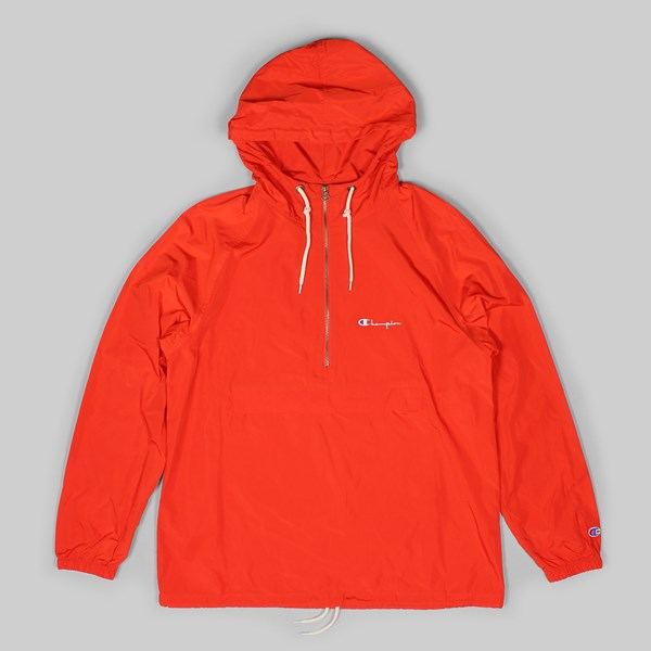 CHAMPION HALF ZIP HOODED JACKET ORANGE