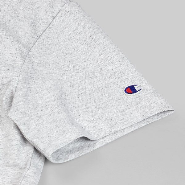 CHAMPION REVERSE WEAVE CHEST C SS T-SHIRT GREY