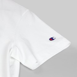 CHAMPION REVERSE WEAVE CHEST C SS T-SHIRT WHITE