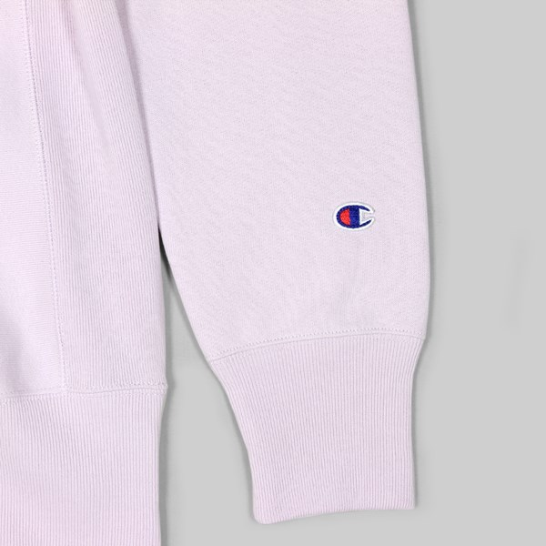 CHAMPION REVERSE WEAVE CHEST LOGO CREW LAVENDER