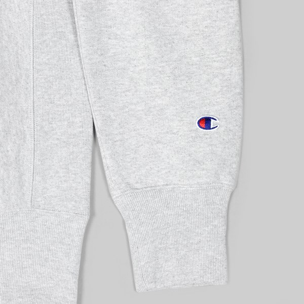 CHAMPION REVERSE WEAVE HALF ZIP SWEAT GREY
