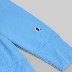 CHAMPION REVERSE WEAVE HOODED SWEAT AZURE BLUE