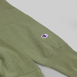CHAMPION REVERSE WEAVE HOODED SWEAT OLIVE GREEN