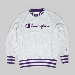 CHAMPION REVERSE WEAVE VINTAGE CREW SWEAT GREY