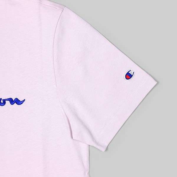 CHAMPION SS T-SHIRT CHEST LOGO LAVENDER