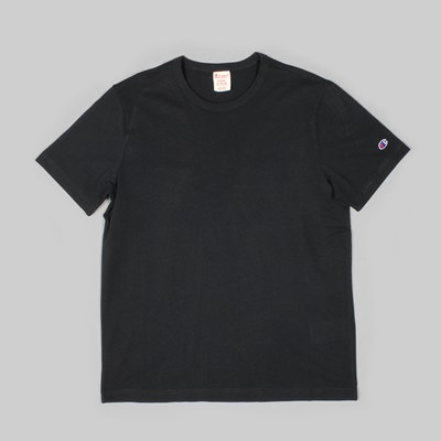 CHAMPION SS T-SHIRT SLEEVE LOGO BLACK