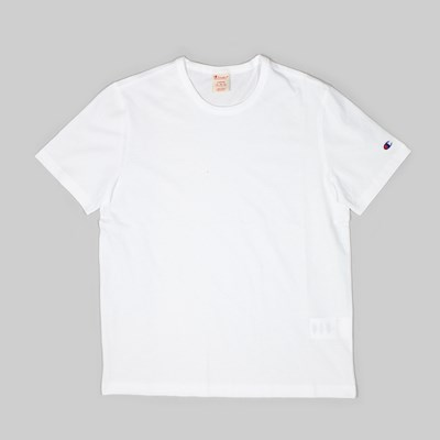 CHAMPION SS T-SHIRT SLEEVE LOGO WHITE