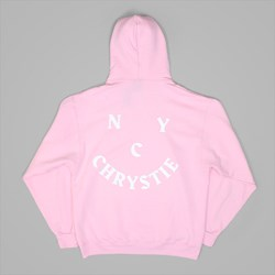 CHRYSTIE NYC FACE LOGO HOOD LIGHT PINK
