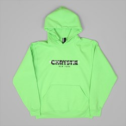 CHRYSTIE NYC OG + JAPANESE LOGO HOOD LIME GREEN